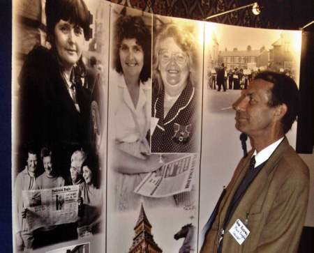 Peter Rodney viewing our exhibition